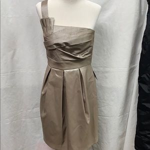 NWT Eliza J NY Silver Cocktail Dress Wedding 10